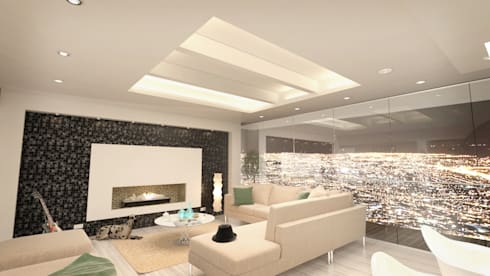 Terraza Peñas Blancas: Paisajismo de interiores de estilo  por Lápiz De Sueños