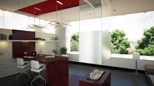 ESTUDIO LUNA : Estudios y despachos de estilo moderno por Lápiz De Sueños