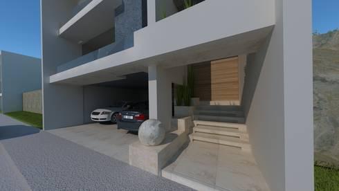 Residencial Europa Lote 3: Garajes de estilo minimalista por CouturierStudio