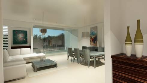 Residencial Europa Lote 3: Salas de estilo minimalista por CouturierStudio