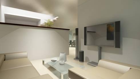 Residencial Europa Lote 3: Salas multimedia de estilo minimalista por CouturierStudio