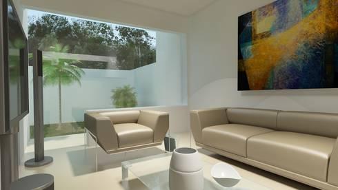 Residencial Europa Lote 3: Estudios y oficinas de estilo minimalista por CouturierStudio
