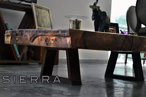 Mesa Parota: Salas de estilo moderno por DODA Arquitectura + Diseño