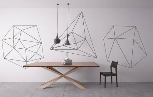 Mid Century Modern Style - Geometric Outlines Decals: Escritórios e Espaços de trabalho  por MOONWALLSTICKERS.COM