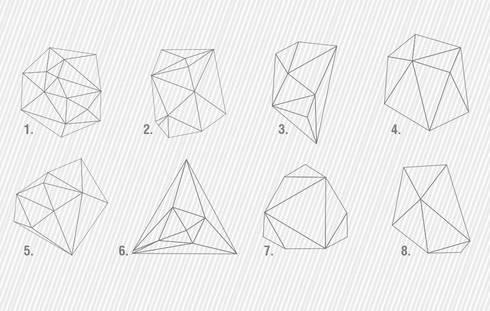 Mid Century Modern Style - Geometric Outlines Decals | 8 MODELS AVAILABLE - CHOOSE YOUR FAVOURITE(S)!: Escritórios e Espaços de trabalho  por MOONWALLSTICKERS.COM