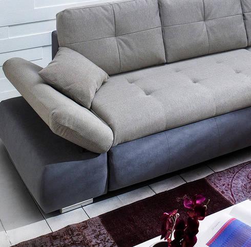POLSTERGARNITUR ZENZO IN GRAU: classic Living room by Jumbo-Discount