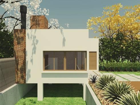 Espaço Gourmet + garagem_PG: Casas modernas por Cíntia Schirmer | Estúdio de Arquitetura e Urbanismo