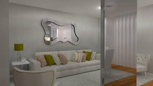 Moradia Felgueiras: Salas de estar modernas por Macedo Barbosa Interiores