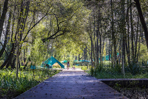 Parque Ribeiro do Matadouro: Jardins minimalistas por Oh!land studio, lda