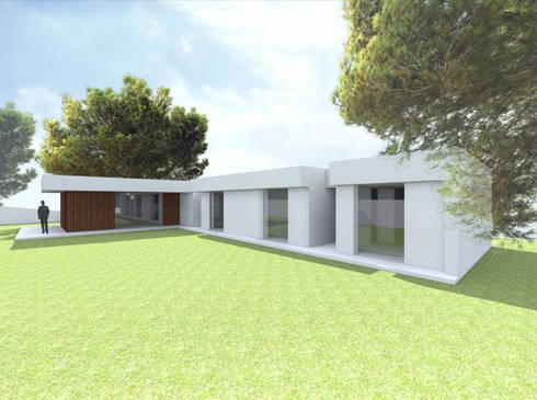 Vista 3D - Zona privada:   por a-tuar arquitetura