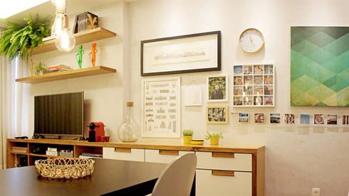 Sala de Estar/Jantar: Salas de jantar modernas por fpr Studio