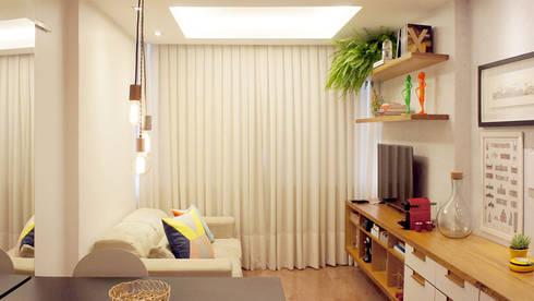 Sala de Estar e Jantar Integradas: Salas de estar modernas por fpr Studio