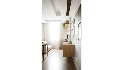 Hall, Sala de Estar e Jantar: Salas de estar modernas por fpr Studio
