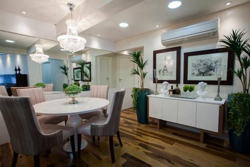 Sala de Jantar apto em BC: Salas de jantar modernas por Estúdio HL - Arquitetura e Interiores