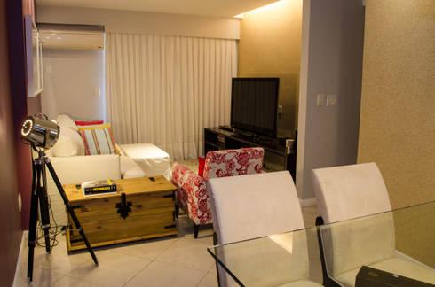 Residência Fernandes Guimarães: Salas de estar modernas por LMartins Fotografia