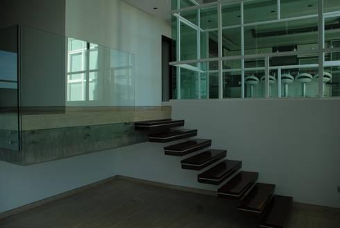 Casa el Hatillo: Pasillos y vestíbulos de estilo  por Arquitecto Juan Pablo Fernandes