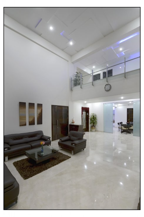 Thane Site: modern Living room by CK Interiors Pvt Ltd