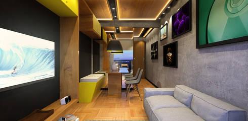 Lar 104: Salas de estar modernas por Julian Seifert Arquitetura