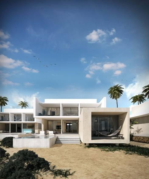 Villas Santa Clara: Casas de estilo moderno por TNGNT arquitectos