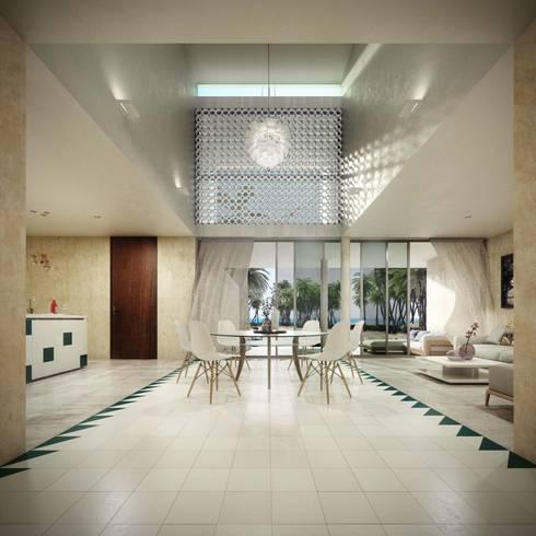 Villas Santa Clara: Comedores de estilo moderno por TNGNT arquitectos