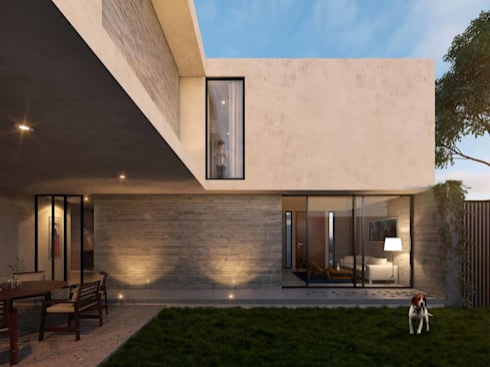 Casa RP: Jardines de estilo moderno por TNGNT arquitectos
