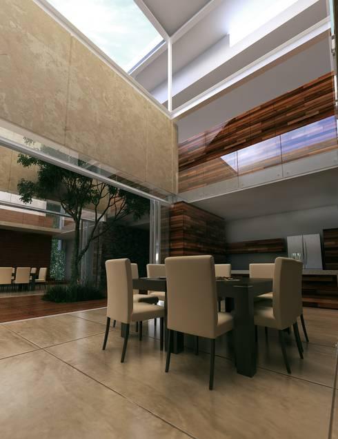 Casa HH: Comedores de estilo moderno por TNGNT arquitectos
