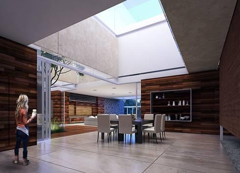 Casa HH: Salas de estilo moderno por TNGNT arquitectos