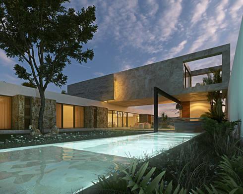 Casa MO: Jardines de estilo moderno por TNGNT arquitectos