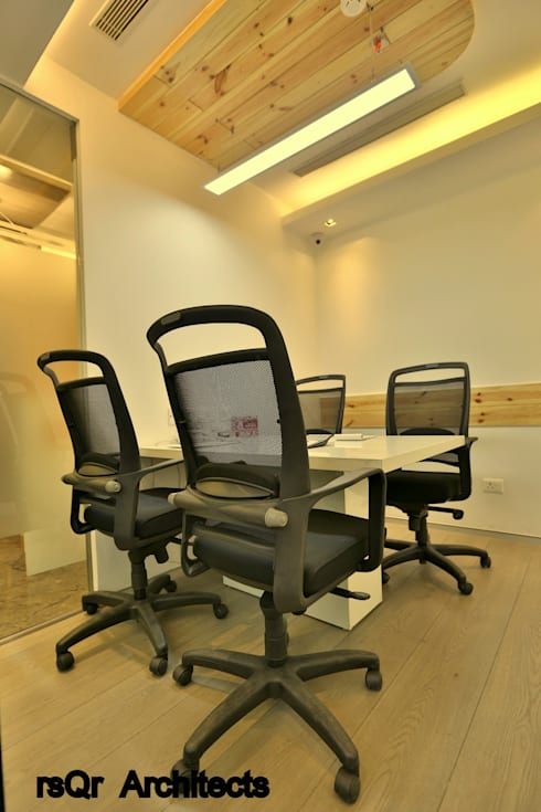 Lares & Penates Office Fitout Gurgaon by RsQr Architects:  Conference Centres by rsQr Architects