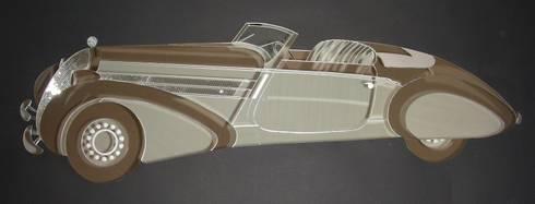 Steyr 220 Sportkabriolet Gläser: moderne Häuser von GLAS +ACHAT