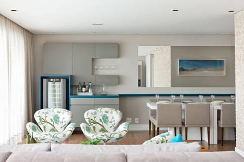 PR. MR. INDIANOPOLIS: Sala de jantar  por Tatiana Spencer Arquitetura e Design