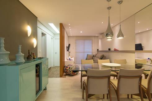 Sala de TV e Jantar: Salas de estar modernas por Madi Arquitetura e Design