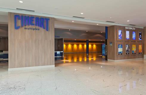 Projeto Comercial – Cineart: Shopping Centers  por Dubal Arquitetura e Design