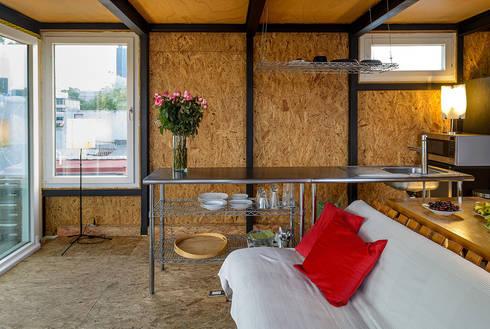Sala/cocina: Salas de estilo moderno por Windlock - soluciones sustentables