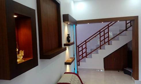 Bangalow:  Corridor & hallway by homecenterktm