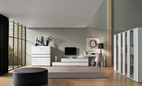 Moverel: Salas de estar modernas por MOVEREL-Indústria de Mobiliário, SA