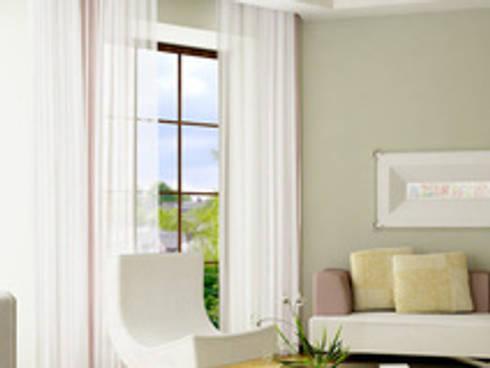 Modern Living Room By Ramonas Nähstube   Window Fashion