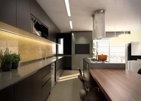 Cozinha:   por Almeida Arquitetos