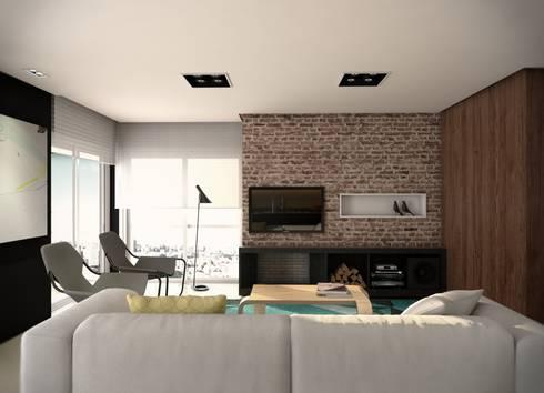 Living:   por Almeida Arquitetos