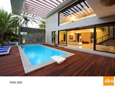 PMR Residence: modern Pool by Dutta Kannan architects