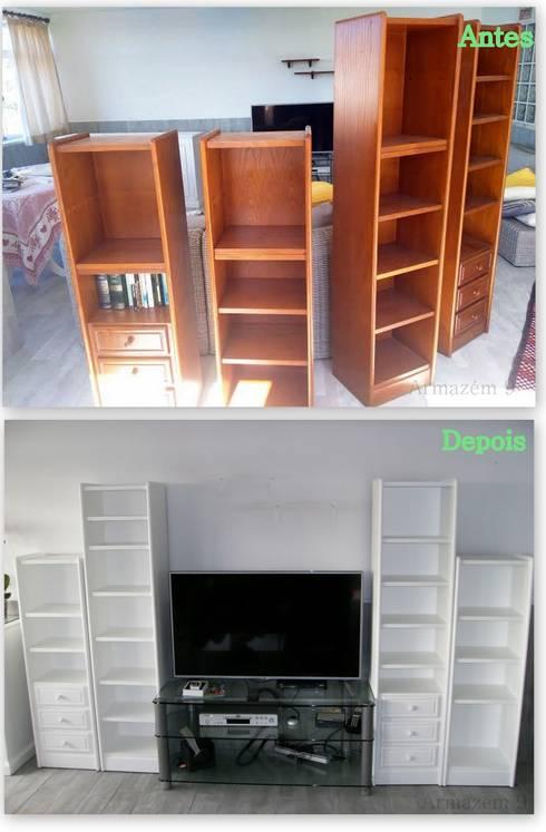 Estantes pesadas (1): Sala de estar  por Armazém 9