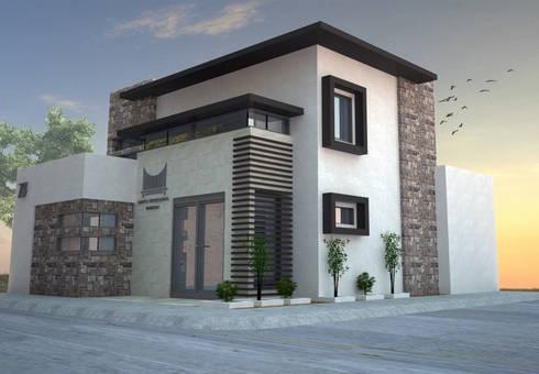 Oficinas geb de acr polis arquitectura homify for Fachadas de casas modernas en hermosillo