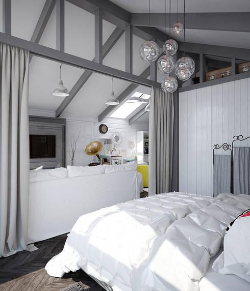 scandinavische Slaapkamer door Pavel Alekseev