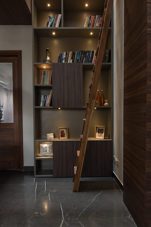 Double Height Library : modern Study/office by Design Plus