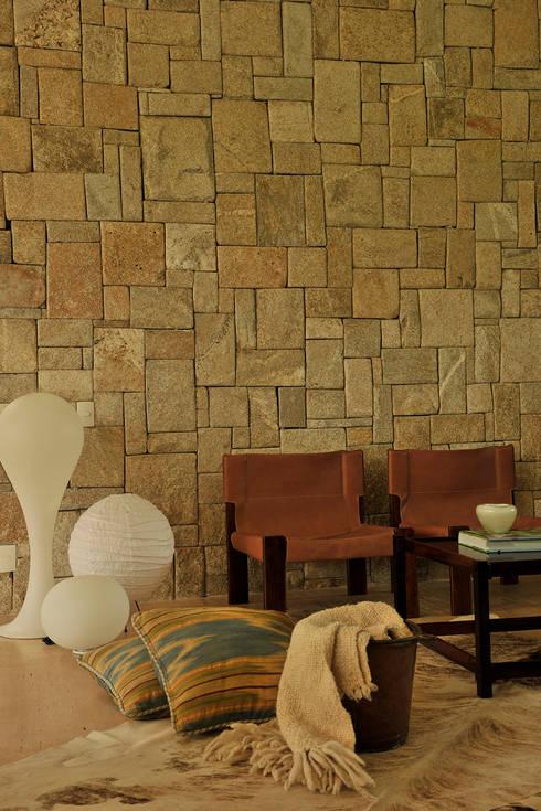 isis chaulon arquitetura: modern tarz Oturma Odası