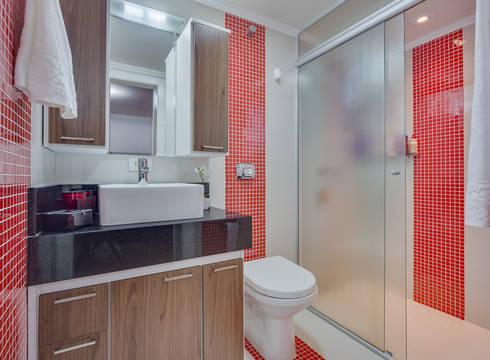 Banheiro da Suíte: Banheiros modernos por Patricia Vertuan