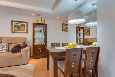 Sala de Estar/Jantar: Salas de jantar modernas por Patricia Vertuan