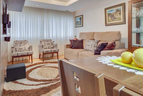 Sala de Estar/Jantar: Salas de estar modernas por Patricia Vertuan