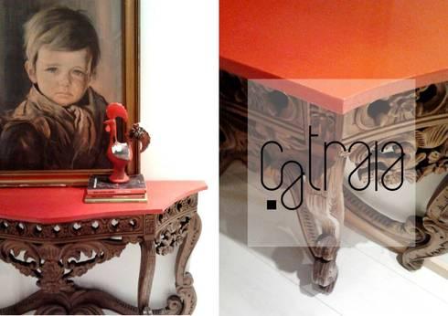 Casas com catraios: Sala de estar  por Catraia