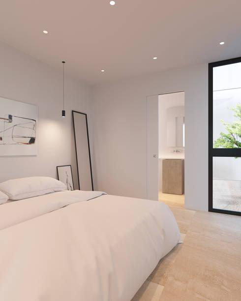 minimalistische Slaapkamer door homify